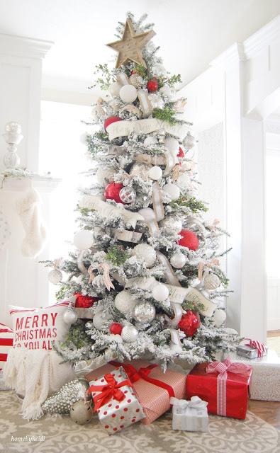 Snowy Winterland Christmas Tree