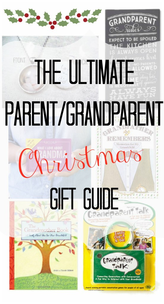 This is the ULTIMATE gift guide for those hard to buy for Parents and Grandparents, along with some great ideas that don't cost a dime!