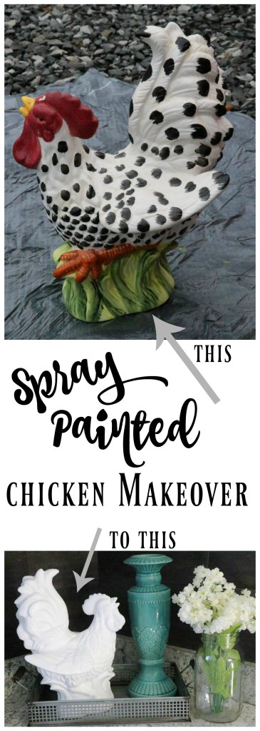 How to spray paint a chicken for an amazing makeover! SO dang cute!
