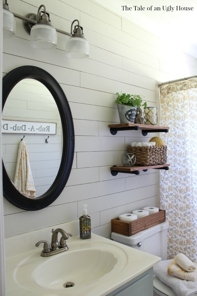 Shiplap Farmhouse Bathroom Makeover