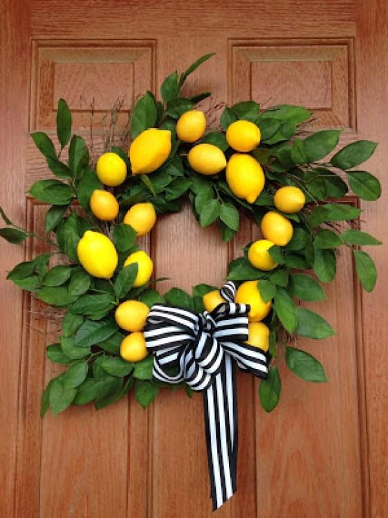 DIY Lemon Wreath
