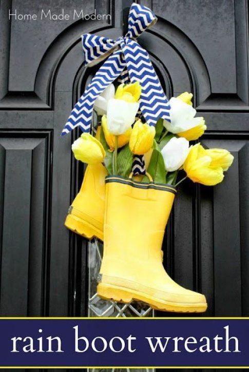 DIY Rain Book Wreath