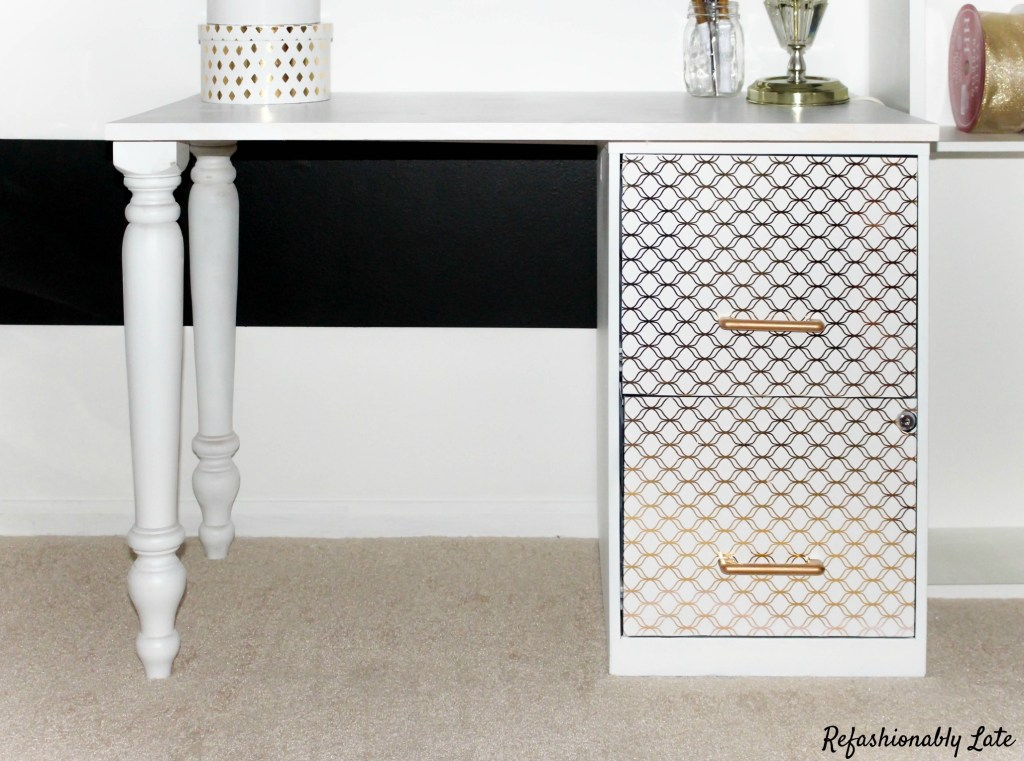 Filing Cabinet Desk Makeover