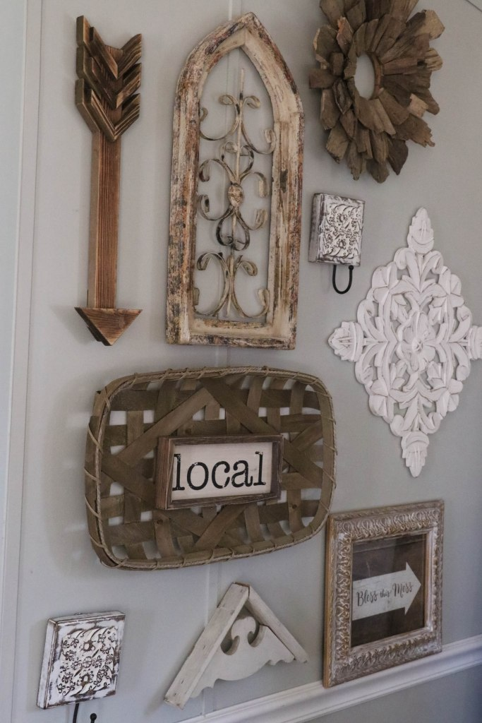 Gorgeous, completely neutral farmhouse gallery wall!