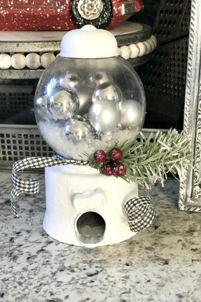 DIY Dollar Tree Snow Globes from a Gumball Machine!