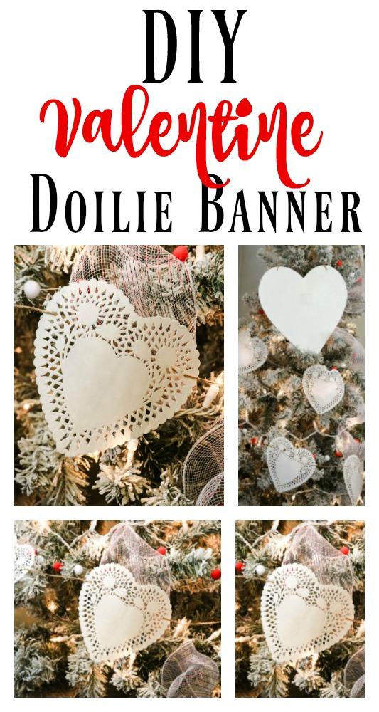 diy Valentine's Doilie Banner