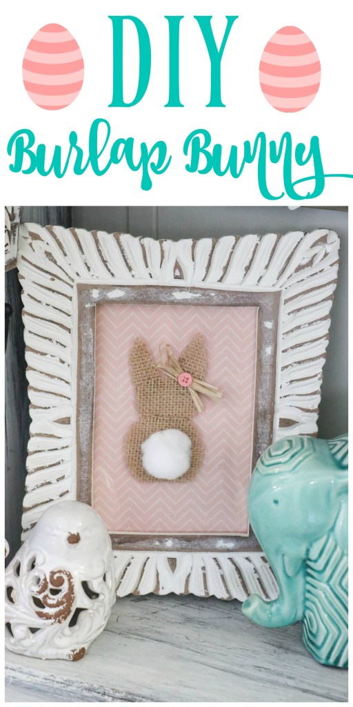 Fast and easy DIY burlap bunny rabbit!