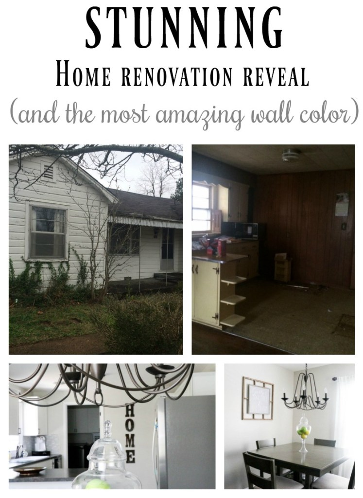 "The most amazing transformation of a home that I have seen. It is truly unreal the difference. And what a gorgeous neutral ""Behr Mineral"" wall color provided by Behr Paint! AMAZING!"