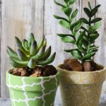 DIY Fabric Covered Flower Pots