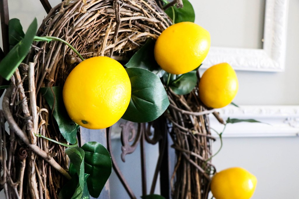 SUPER cute and EASY Diy Lemon Wreath with Dollar Store materials!