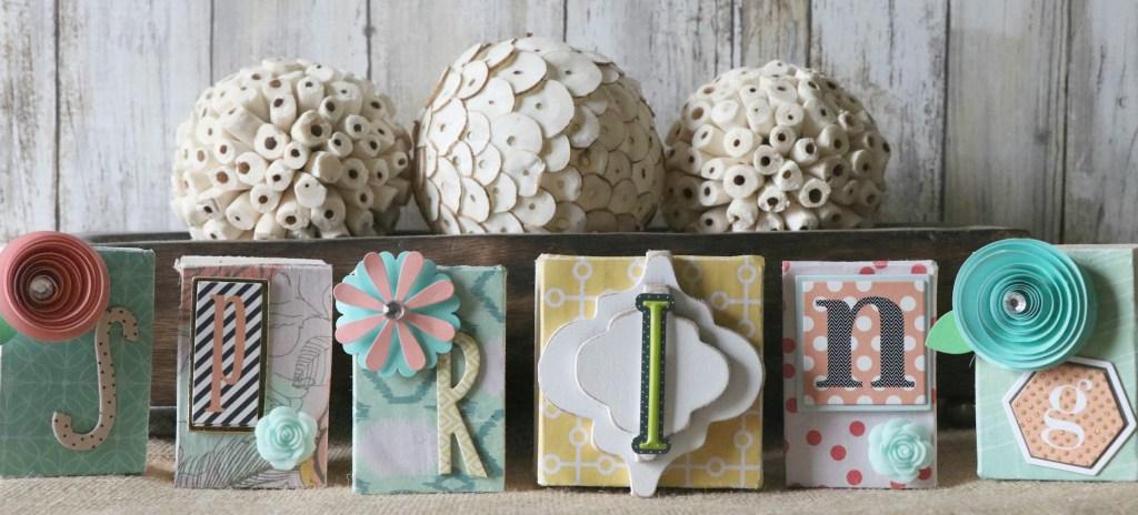 Fun and Easy DIY Spring Block Set!