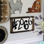 DIY Zip Code Wood Sign