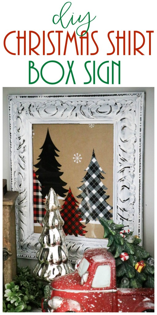 Make super cute and fun Christmas decor with a Christmas shirt box!