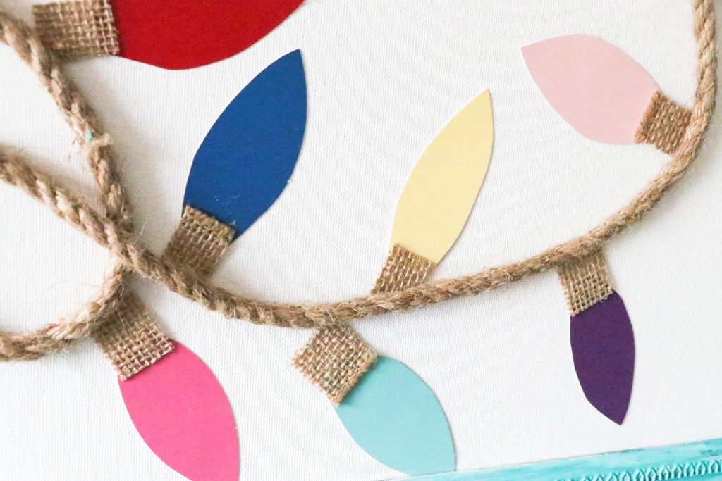 DIY Paint Chip Christmas Lights