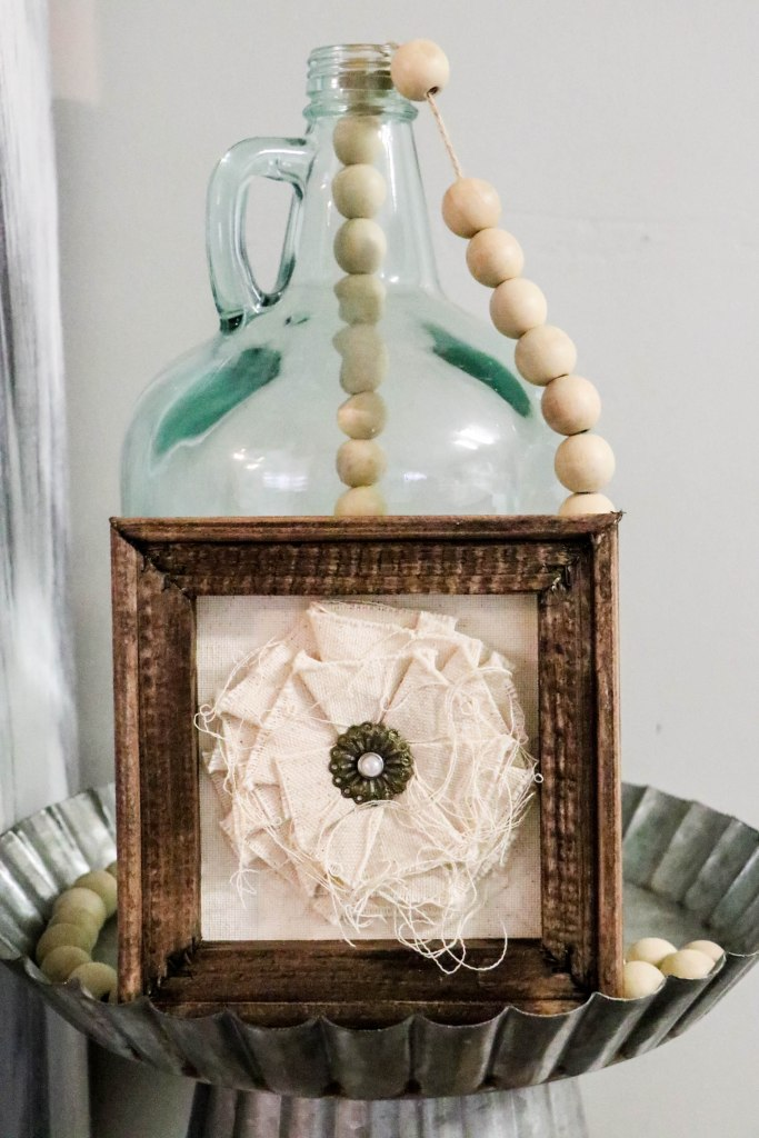 DIY Reverse Canvas Flower Decor