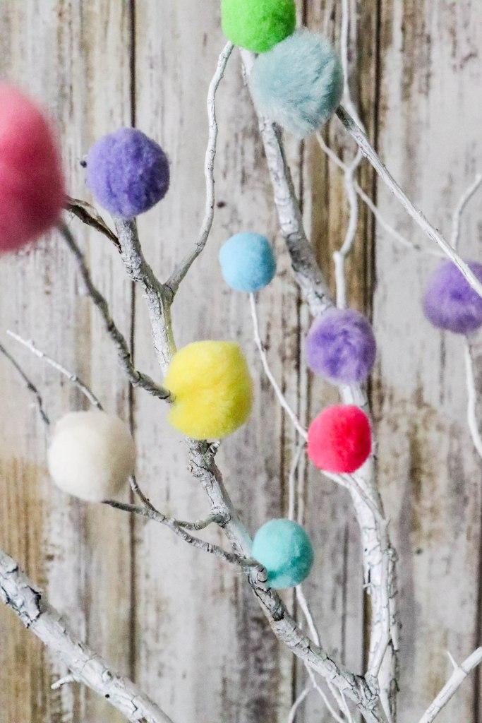 DIY Colorful Pom Pom Sticks