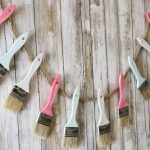 DIY Paint Brush Garland