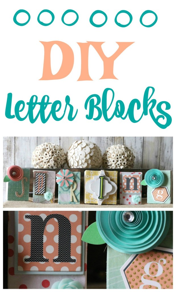 Make a super cute block sign  with fun embellishments
