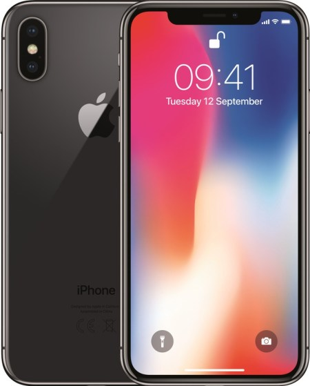 Refurbished Apple iPhone X 64GB Zwart