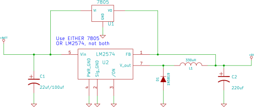 small resolution of circuit diagram of 7805 voltage regulator