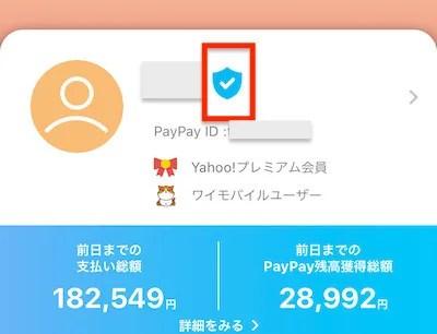 Paypay_青いバッチ