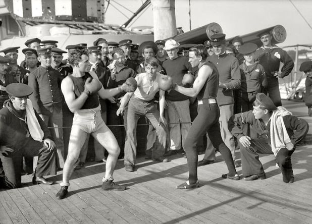 Boxing Match Aboard The U.S.S. New York, July 3, 1899