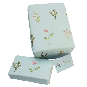 Re-wrapped: ECO Friendly Wrapping Paper Wild Flowers by Vicky Scott made from 100% Unbleached Recycled Paper
