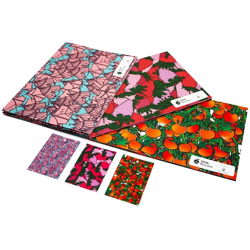 Re-wrapped: ECO Friendly Wrapping Paper Vivid Bundle by Emily Chapman made from 100% Unbleached Recycled Paper