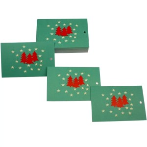 Re-wrapped: ECO Friendly Xmas Wrapping Paper Tags Christmas Forest by Kate Heiss made from 100% Unbleached Recycled Paper