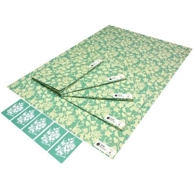 Re-wrapped: ECO Friendly Xmas Wrapping Paper Christmas Winter Wonderland by Kate Heiss made from 100% Unbleached Recycled Paper