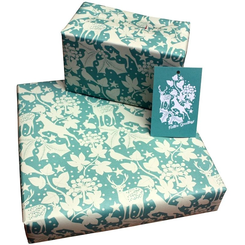 2 sheets 100/% Recycled Christmas Baubles Xmas Gift Wrap Wrapping Paper