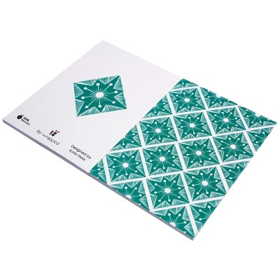 Re-wrapped: ECO Friendly Notebooks Italian Terrazzo by Kate Heiss made from 100% Unbleached Recycled Paper