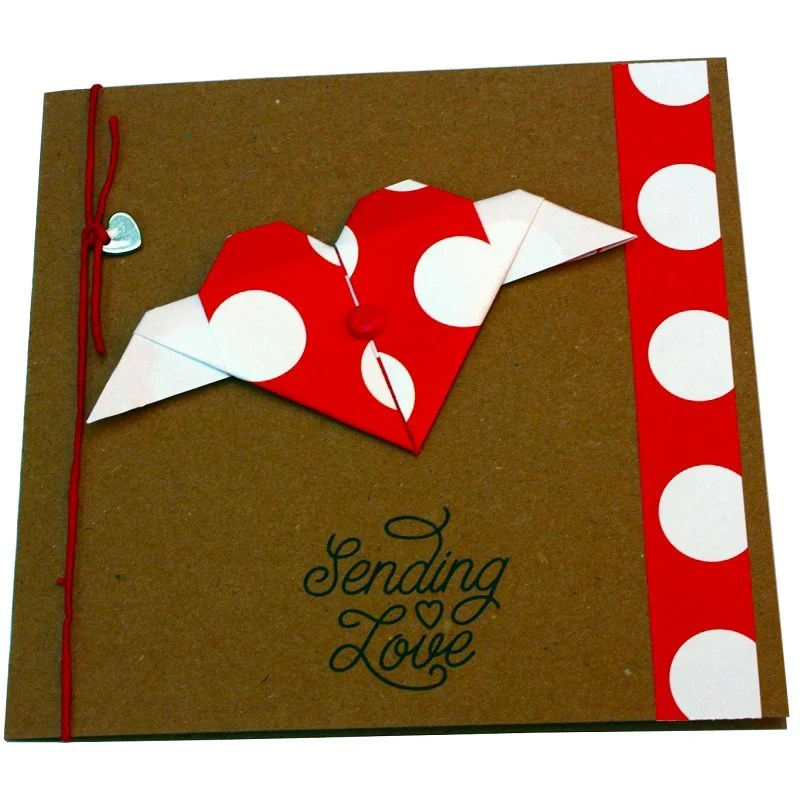 Re-wrapped: ECO Friendly Wrapping Paper Polka Dot Red The Sky is the Limit Card made from 100% Unbleached Recycled Paper