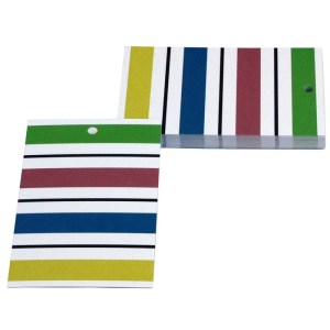 Re-wrapped: ECO Friendly Wrapping Paper Tags Go Stripey by Tracy Umney made from 100% Unbleached Recycled Paper