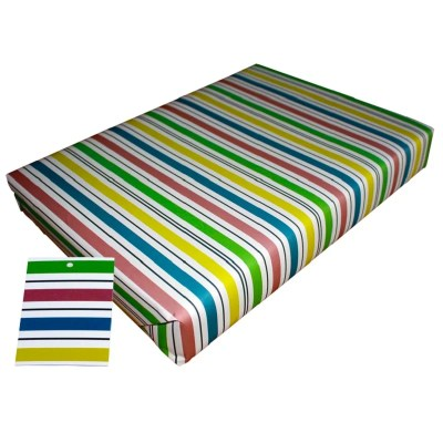 Re-wrapped: ECO Friendly Wrapping Paper Go Stripey by Tracy Umney made from 100% Unbleached Recycled Paper