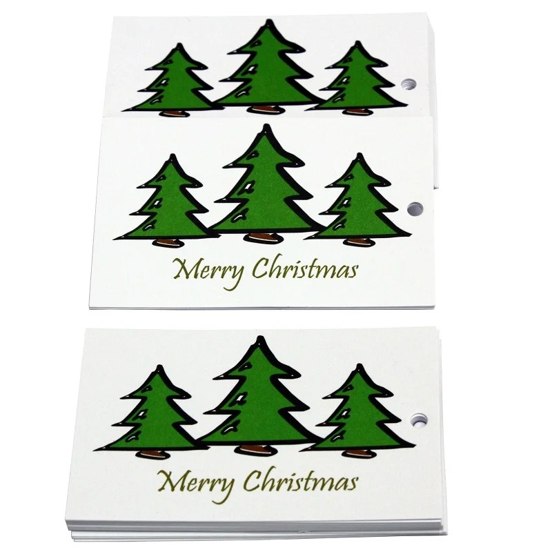 Re-wrapped: ECO Friendly Xmas Wrapping Paper Tags O Christmas Tree White by Tracy Umney made from 100% Unbleached Recycled Paper
