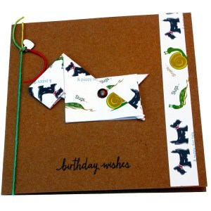 Re-wrapped: ECO Friendly Wrapping Paper Slugs & Snails Birthday Wishes Card made from 100% Unbleached Recycled Paper