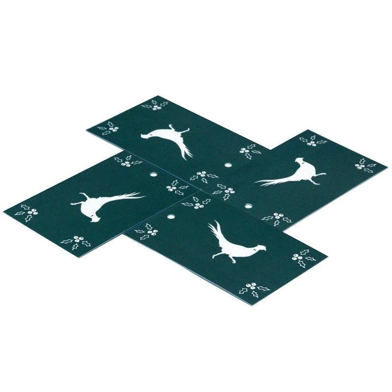 Re-wrapped: ECO Friendly Xmas Wrapping Paper Tags Christmas Scandi Pheasants by Sophie Botsford made from 100% Unbleached Recycled Paper