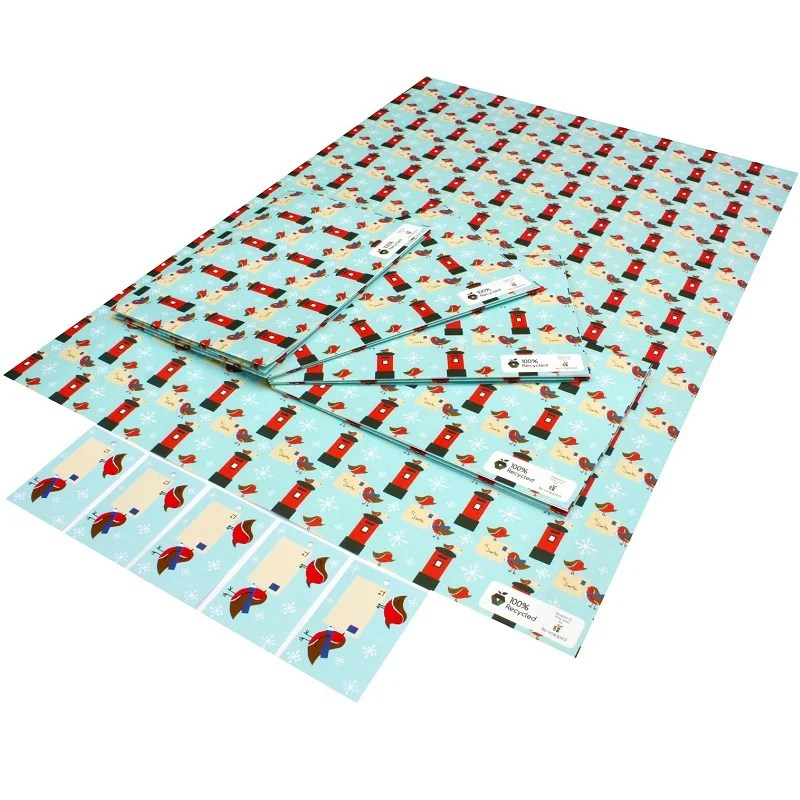 Penguins /& Robins Recyclable Christmas Wrapping Paper /& Tags