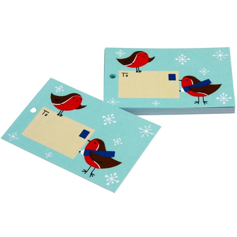 Re-wrapped: ECO Friendly Xmas Wrapping Paper Tags Christmas Postbox Robins by Vicky Scott made from 100% Unbleached Recycled Paper