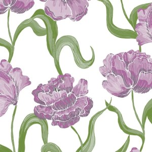 Re-wrapped: ECO Friendly Wrapping Paper Blue Tulips by Rosie Parkinson made from 100% Unbleached Recycled Paper