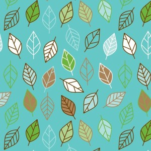 Re-wrapped: ECO Friendly Birthday Wrapping Paper Vintage Retro Leaves by Rosie Parkinson made from 100% Unbleached Recycled Paper