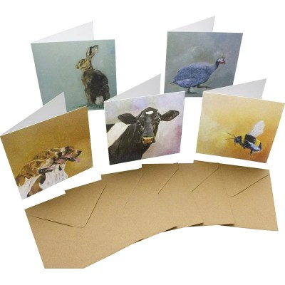 Re-wrapped: ECO Friendly Birthday Wrapping Paper Oil Large Pack Greetings Card by Sophie Botsford made from 100% Unbleached Recycled Card
