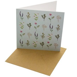 Re-wrapped: ECO Friendly Birthday Wrapping Paper Wild Flowers Greetings Card by Sophie Botsford made from 100% Unbleached Recycled Card