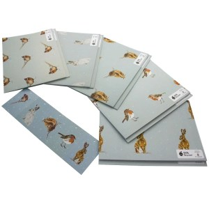 Re-wrapped: ECO Friendly Wrapping Paper Christmas Animals and Birds Large Pack by Sophie Botsford made from 100% Unbleached Recycled Paper