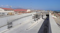 Gibraltar Airport tunnel road construction completion ohl 2021
