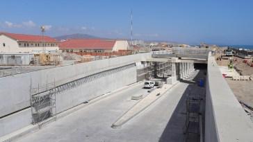 obras del túnel del aeropuerto de Gibraltar ohl 2021