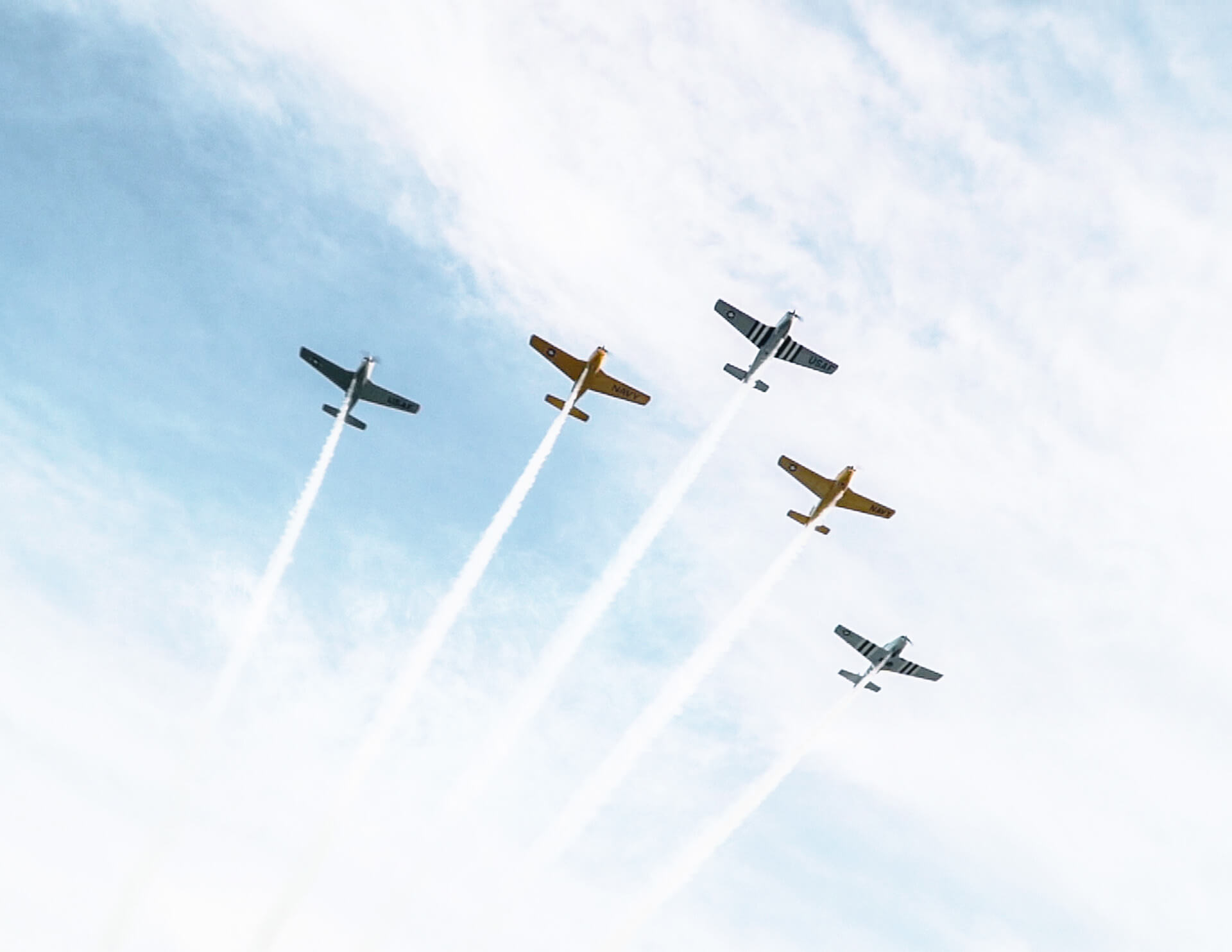 A military flyover finalized the pre-race ceremonies at the 2019 Night Under Fire.