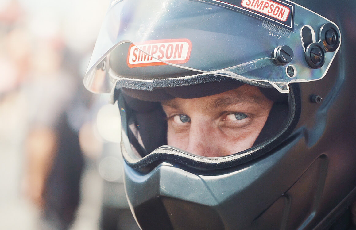 Brandon Greco is all focus as he gets ready for a qualifying run at the 2019 Summit Racing Equipment NHRA Nationals.