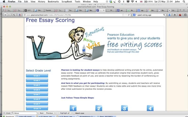 Essay scorer login